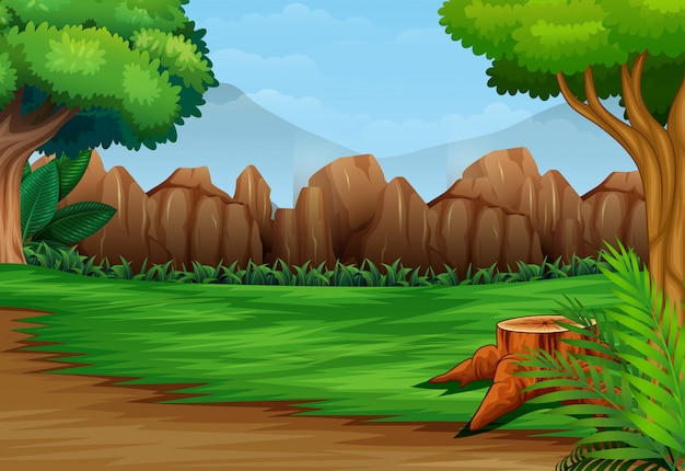 Fond de paysage forestier dans la journée