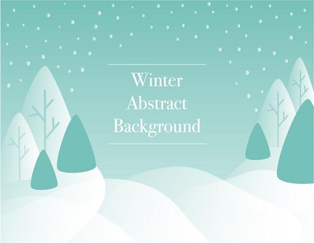 Fond de paysage de forêt d'hiver