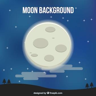 Fond de paysage avec la lune