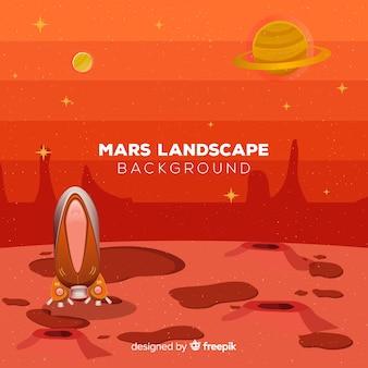 Fond de paysage de mars