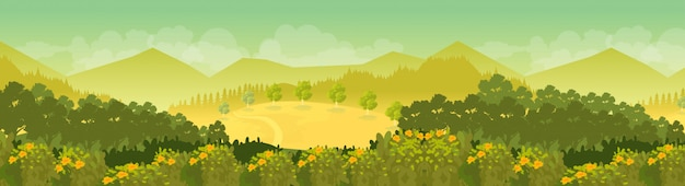 Fond de paysage de montagne en journée ensoleillée