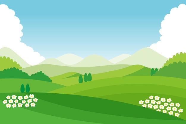 Fond de paysage naturel pour la vidéoconférence