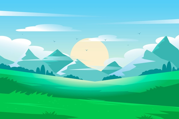 Fond avec paysage naturel