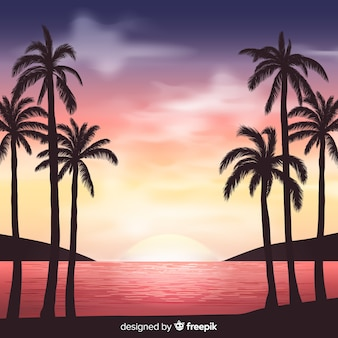 Fond de paysage tropical