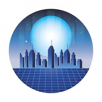 Fond de paysage urbain numérique
