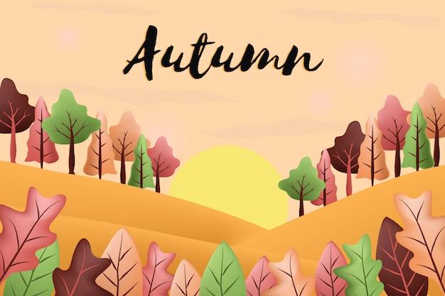 Fond de paysages d'automne