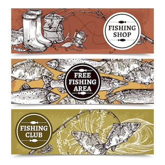 Fond de pêche horizontal