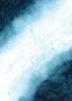 Fond peint à la main abstraite bleu foncé