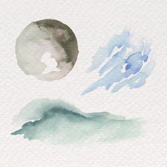 Fond peint à la main aquarelle