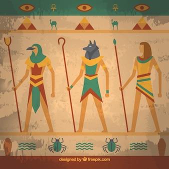 Fond de peinture murale egypte