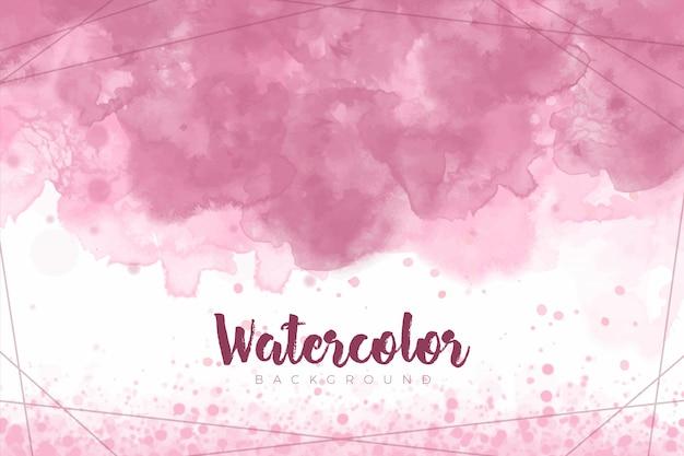Fond de peinture splash abstrait rose avec texture aquarelle