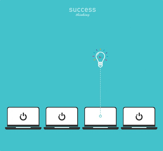 Fond de pensée de réussite