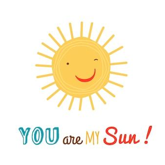 Fond de personnage de soleil heureux drôle