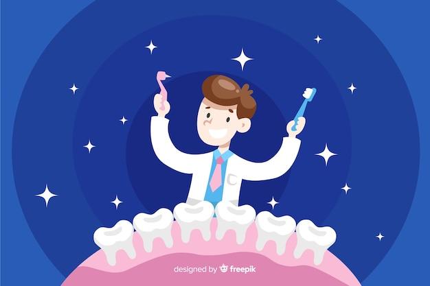 Fond de personnages de dentiste