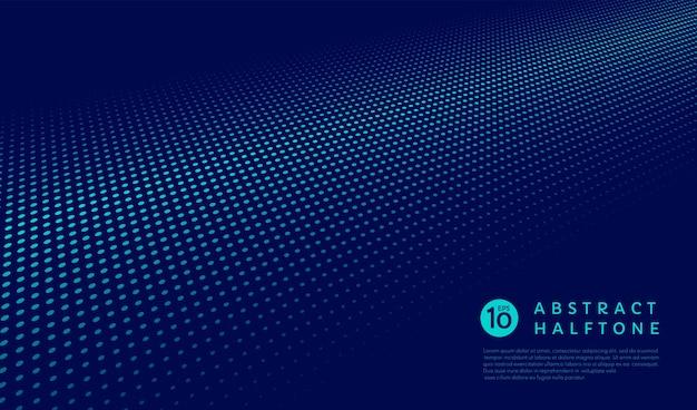Fond de perspective de demi-teinte vert et bleu de bannière de modèle de points technologie et style futuriste
