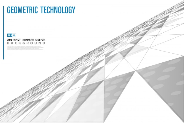Fond de perspective triangle technologie abstraite
