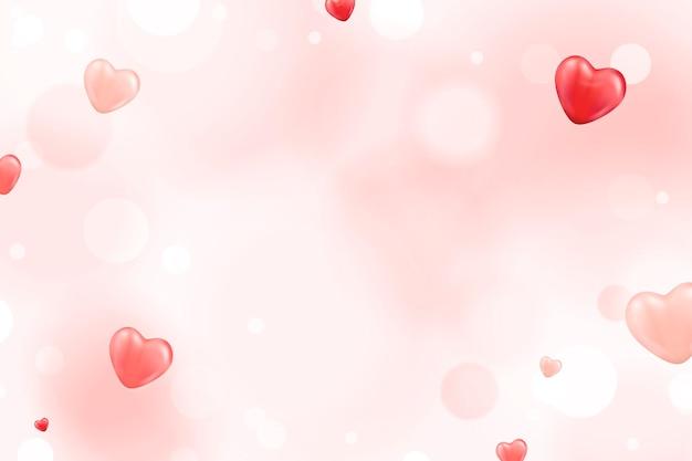 Fond de petit coeur rouge