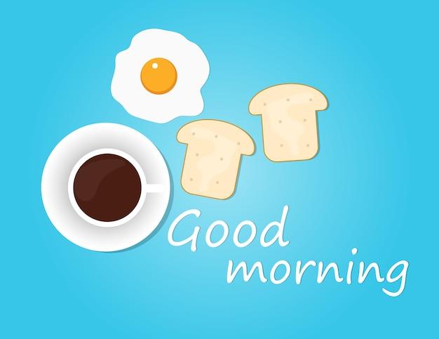 Fond de petit déjeuner bonjour