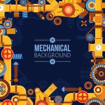 Fond de pièces de machines