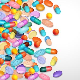 Fond de pilules réalistes