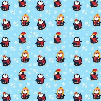 Fond de pingouin de noël