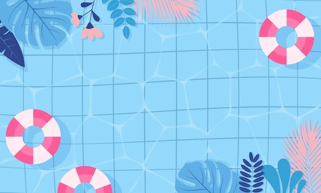Fond de piscine d'été.