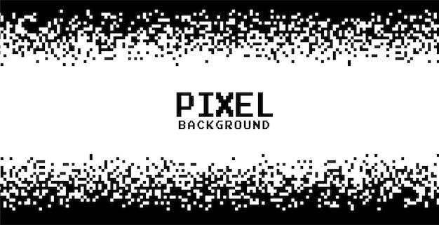 Fond de pixels noir et blanc