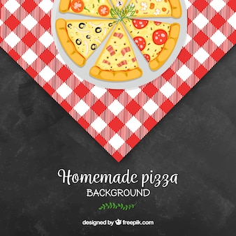Fond de pizza de design plat