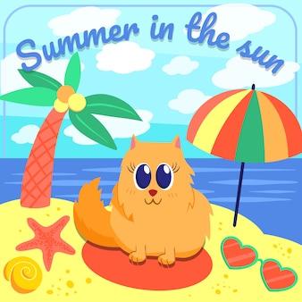 Fond de plage d'été
