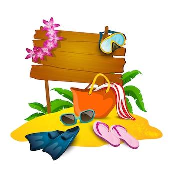 Fond de plage et d'été