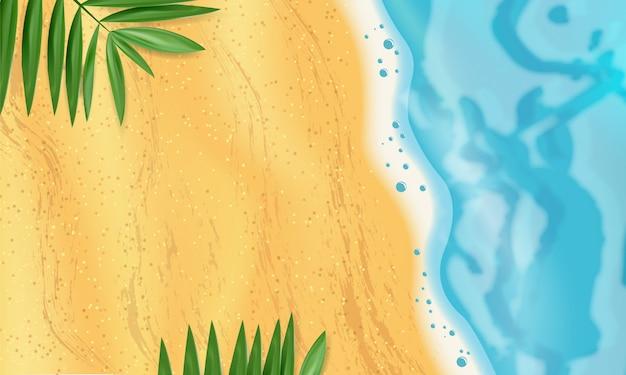 Fond de plage de vecteur