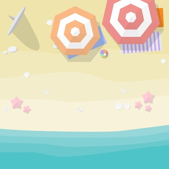 Fond de plage vue de dessus