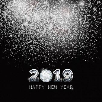 Fond plaqué nouvel an