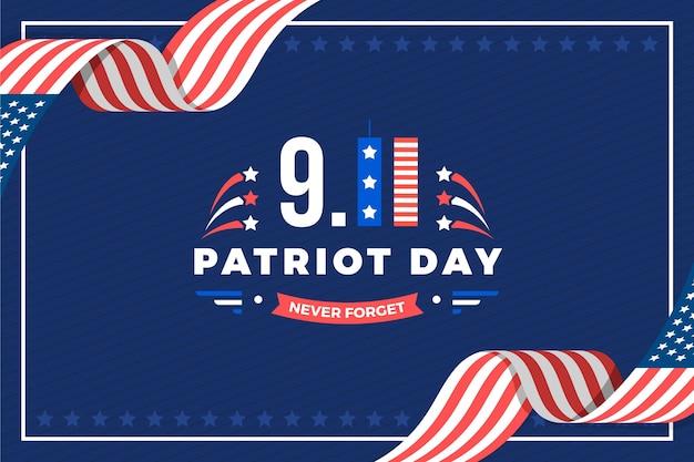 Fond plat 9.11 jour patriote