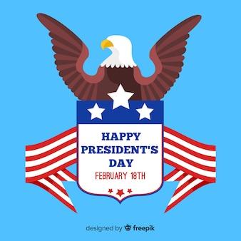 Fond plat aigle jour du président