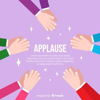 Fond plat d'applaudissements colorés