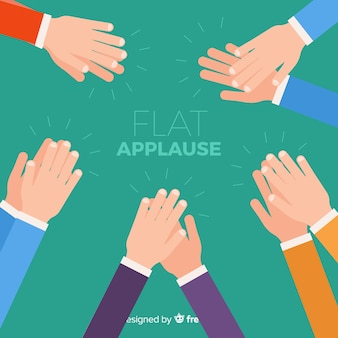Fond plat d'applaudissements