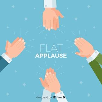 Fond plat d'applaudissements