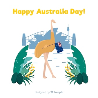 Fond plat australie jour