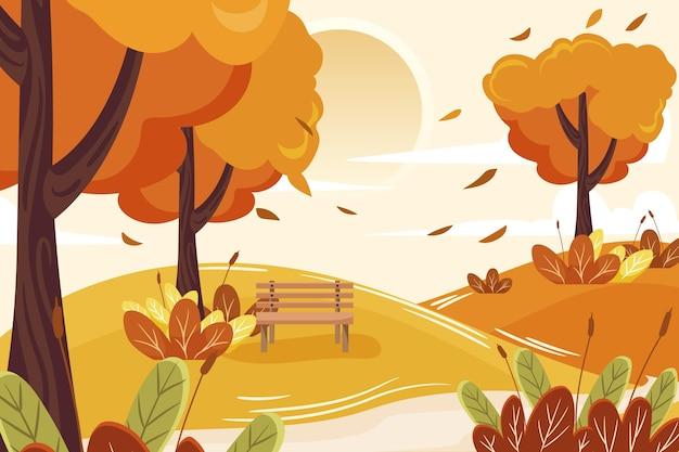 Fond plat d'automne