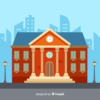 Fond plat de bâtiment universitaire