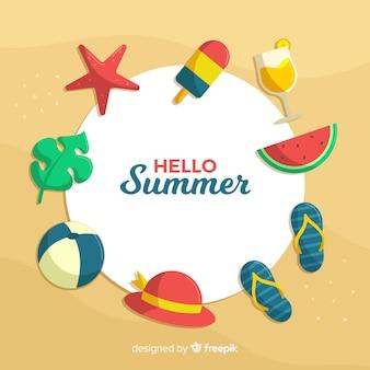Fond plat bonjour l'été