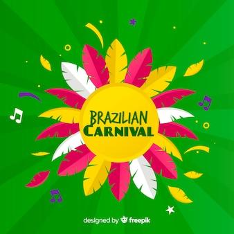 Fond plat de carnaval brésilien