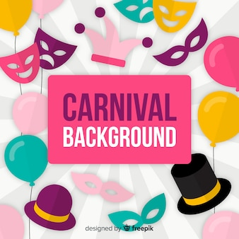 Fond plat de carnaval