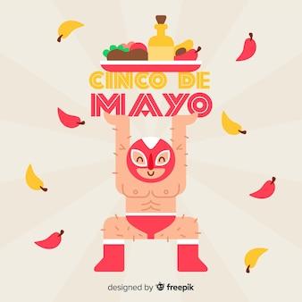 Fond plat de cinco de mayo