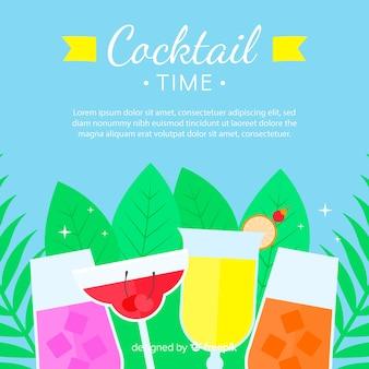 Fond plat cocktail