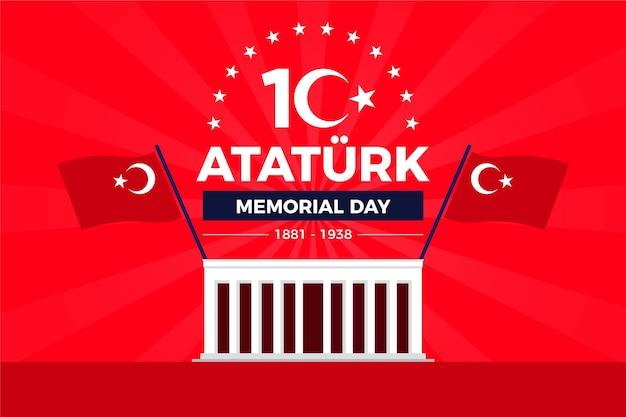 Fond plat du jour commémoratif d'ataturk