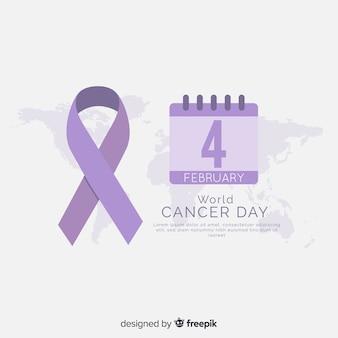 Fond plat du monde du cancer