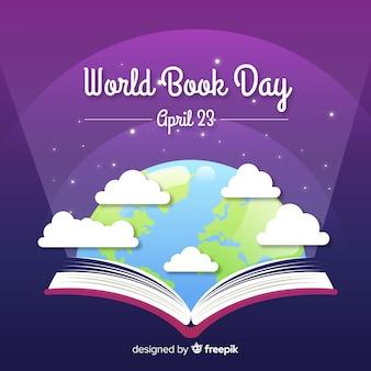 Fond plat du monde du livre