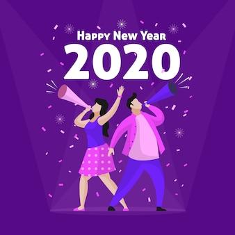 Fond plat du nouvel an